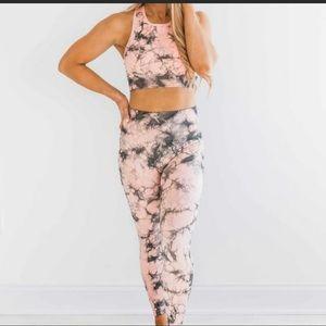 Mono B Pink Tie Dye Leggings S